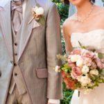 結婚式での新郎新婦